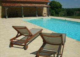 Holiday villa swimming pool