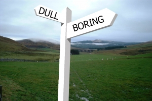 Dull and Boring signpost