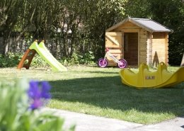 play equipment in french holiday rental
