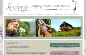 self catering website design longlands devon