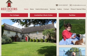 winning website self catering web awards england category red doors farm