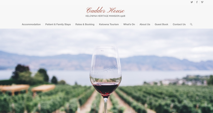 Cadder House Home Page Website