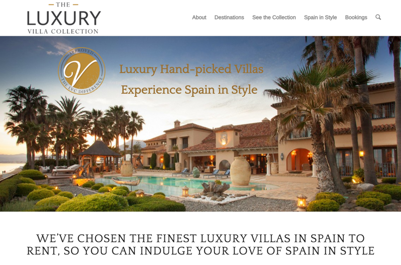 Luxury Villa Collection holiday rental website