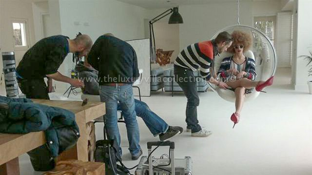 Advertising shoot in holiday rental Marbella