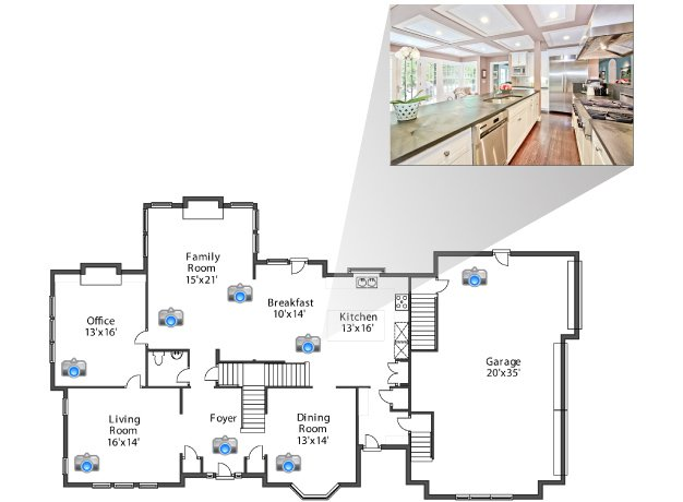Convert more holiday rental bookings with floor plans and for Floor plan virtual tour