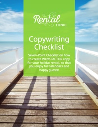 Free Copywriting e-book for vacation rental owners